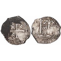 Lima, Peru, cob 2 reales, 1688R.