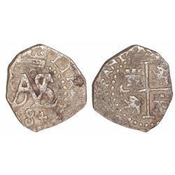 Lima, Peru, cob 1/2 real, 1684.
