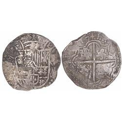 Potosi, Bolivia, cob 8 reales, (16)17M.