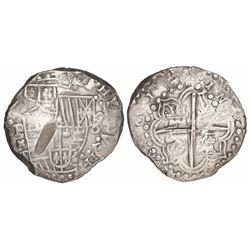 Potosi, Bolivia, cob 8 reales, 1618T.