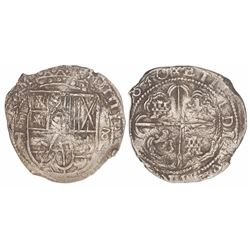 Potosi, Bolivia, cob 8 reales, (1)630T, •P-T• to left, •8• to right.