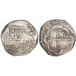 Potosi, Bolivia, cob 8 reales, 16(3)3(T).