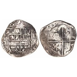 Potosi, Bolivia, cob 8 reales, 163(?)TR.