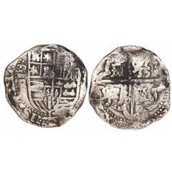 Potosi, Bolivia, cob 8 reales, Philip IV, assayer TR (ca. 1640).