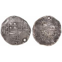Potosi, Bolivia, cob 8 reales, (1)64(?)T.