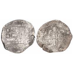 Potosi, Bolivia, cob 8 reales, (1)643, assayer not visible, rare.