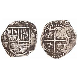 Potosi, Bolivia, cob 2 reales, 1620T, very rare, Sellschopp Plate Coin.