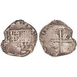 Potosi, Bolivia, cob 2 reales, 1644TR, very rare, ex-Karon.