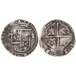Potosi, Bolivia, cob 1 real, Philip II, assayer B/L (1st period).
