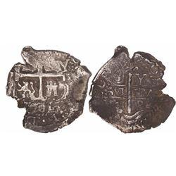 Potosi, Bolivia, cob 8 reales, 1701Y, Charles II.