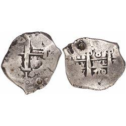 Potosi, Bolivia, cob 8 reales, 1710Y.
