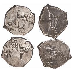 Lot of 2 Potosi, Bolivia, cob 8 reales, 1712Y.