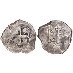 Potosi, Bolivia, cob 8 reales, 1725Y (Louis I).