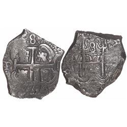 Potosi, Bolivia, cob 8 reales, 1728M, ex-Trastamara.