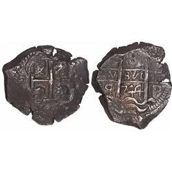 Potosi, Bolivia, cob 8 reales, 1744q, ex-Trastamara.