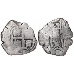 Potosi, Bolivia, cob 4 reales, 1723Y.