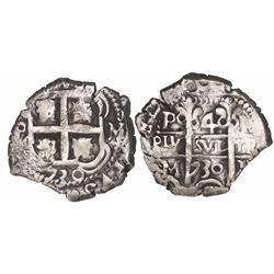 Potosi, Bolivia, cob 4 reales, 1730M.