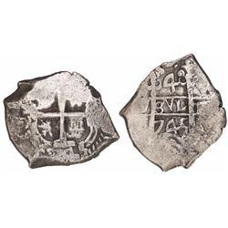 Potosi, Bolivia, cob 4 reales, 1745(q).