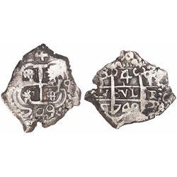 Potosi, Bolivia, cob 4 reales, 1749q.