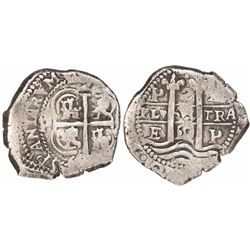 Potosi, Bolivia, cob 2 reales, 1660E.