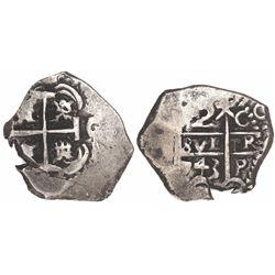 Potosi, Bolivia, cob 2 reales, 1743C.