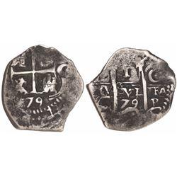 Potosi, Bolivia, cob 1 real, 1679C.