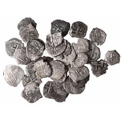 Large lot of 33 Potosi, Bolivia, cob 1R: 1655E, 1656E, 1662E, 1665E, 1666E, 1667E, 1689VR, 1698F (2)