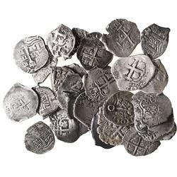 Large lot of 26 Potosi, Bolivia, cob 1R: 1652E, 1653E, 1654E (2), 1655E, 1656E (2), 1657E, 1662E, 16