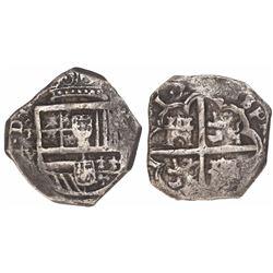 Toledo, Spain, cob 4 reales, (16)17V.