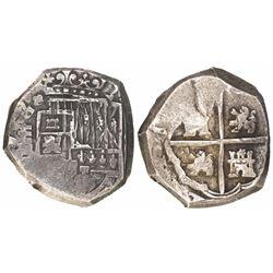 Segovia, Spain, cob 8 reales, Philip IV, assayer not visible.