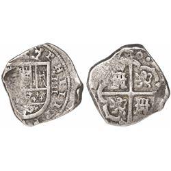 Seville, Spain, cob 4 reales, (16)30, assayer not visible.