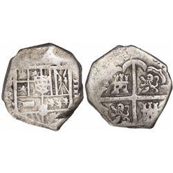 Seville, Spain, cob 4 reales, Philip IV, assayer R.