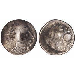 Eastern Celtic imitation of an ancient Greek AR tetradrachm, Kings of Macedon, Philip II, 2nd centur