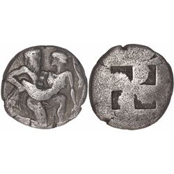 Thasos, Islands off Thrace, AR stater, 500-480 BC.