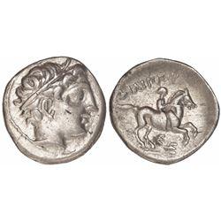 Kings of Macedon, AR drachm, Philip II, 359-336 BC.