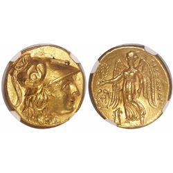 "Kings of Macedon, AV stater, Alexander III (""the Great""), 336-323 BC, early posthumous issue, encaps"