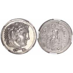"Kings of Macedon, AR tetradrachm, Alexander III (""the Great""), 336-323 BC, lifetime issue, encapsula"