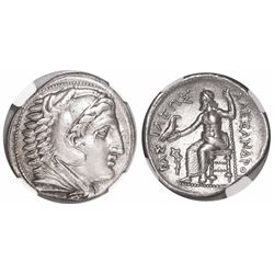 "Kings of Macedon, AR tetradrachm, Alexander III (""the Great""), 336-323 BC, early posthumous issue, e"