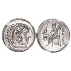 "Kings of Macedon, AR drachm, Alexander III (""the Great""), 336-323 BC, early posthumous issue, encaps"
