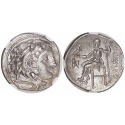 Kings of Macedon, AR drachm, Philip III, 323-317 BC, encapsulated NGC Ch AU, strike 5/5, surface 5/5