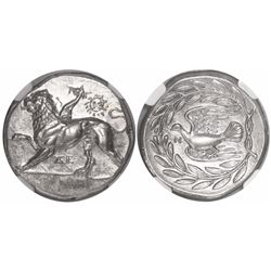 Sikyonia, Sikyon, AR stater, ca. 400-323 BC, encapsulated NGC Ch AU, strike 5/5, surface 4/5, fine s