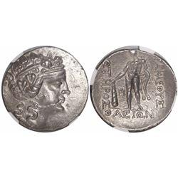 Thrace, Island of Thasos, AR tetradrachm, 2nd-1st centuries BC, imitative series (?), encapsulated N