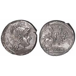 Roman Republic, AR denarius, ca. 207 BC.