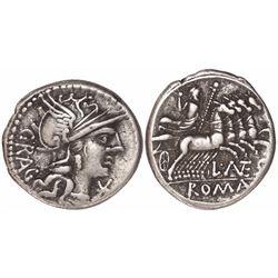 Roman Republic, AR denarius, L. Antestius Gragulus, 136 BC.