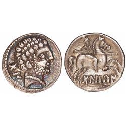 Roman Republic (Iberian peninsula), AR denarius, ca. 100-70 BC, Belikio.