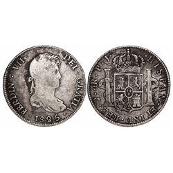 Potosi, Bolivia, bust 4 reales, Ferdinand VII, 1825PJ, rare.