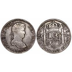 Potosi, Bolivia, bust 4 reales, Ferdinand VII, 1825JL.
