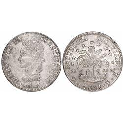 Potosi, Bolivia, 8 soles, 1861FJ.