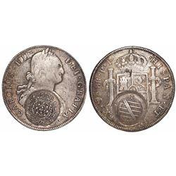 Brazil (Minas Gerais), 960 reis, Joao Prince Regent, crowned-arms counterstamp (1808-10) on a Potosi