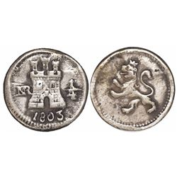 Bogota, Colombia, 1/4 real, 1803.